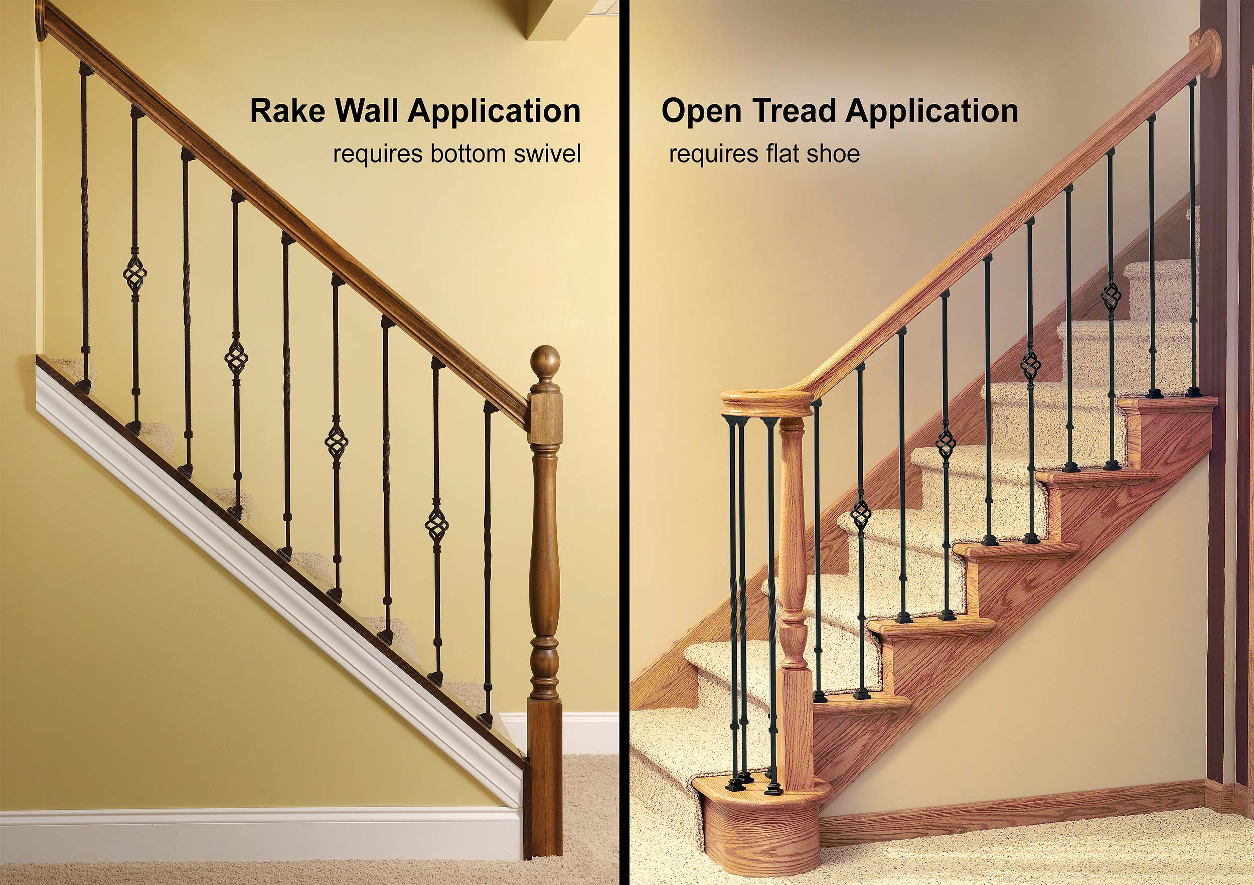 Rake Or Pitch Application And Open Stair Application