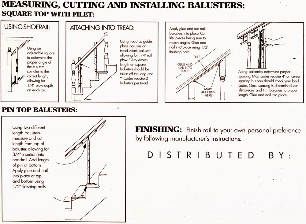 Measuring, Cutting and Installing Balusters