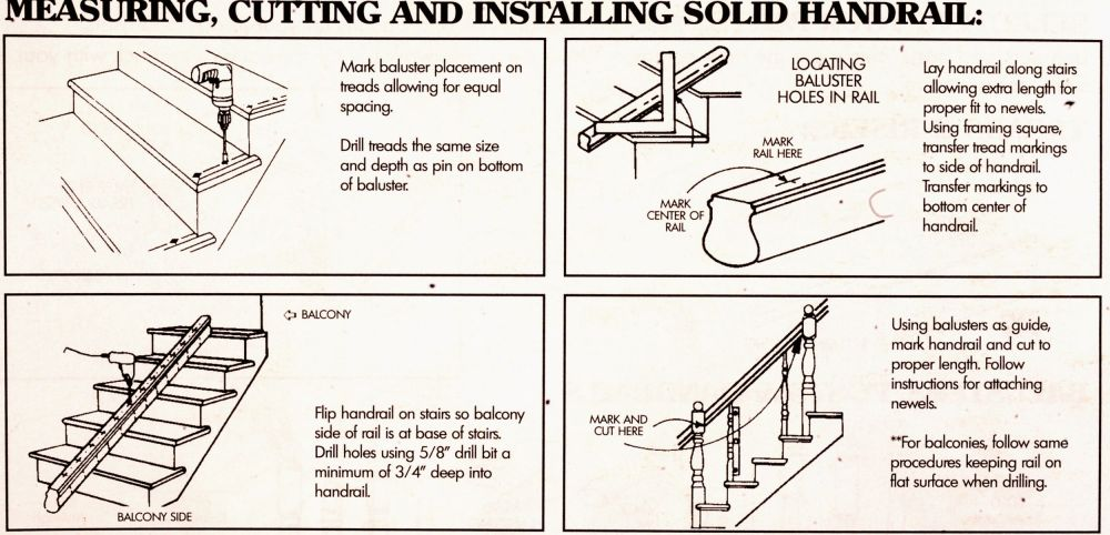 Measuring, Cutting and Installing Solid Handrail