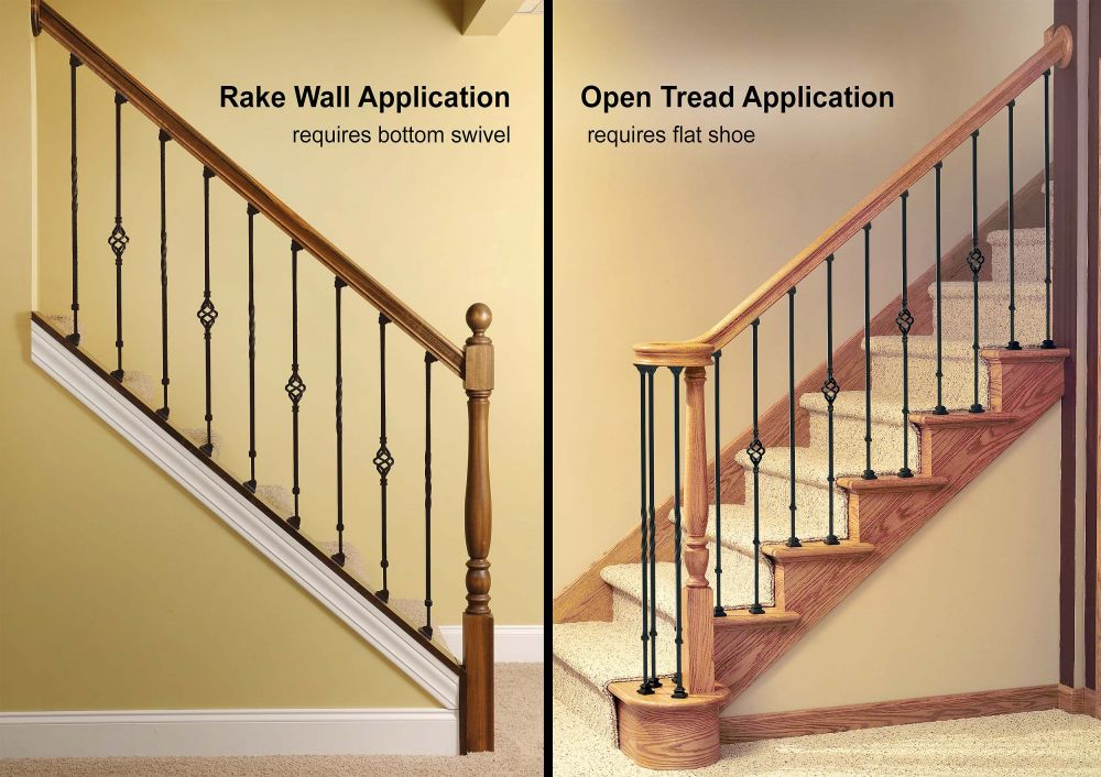Pitch or Rake vs. Open Stairway Appliation