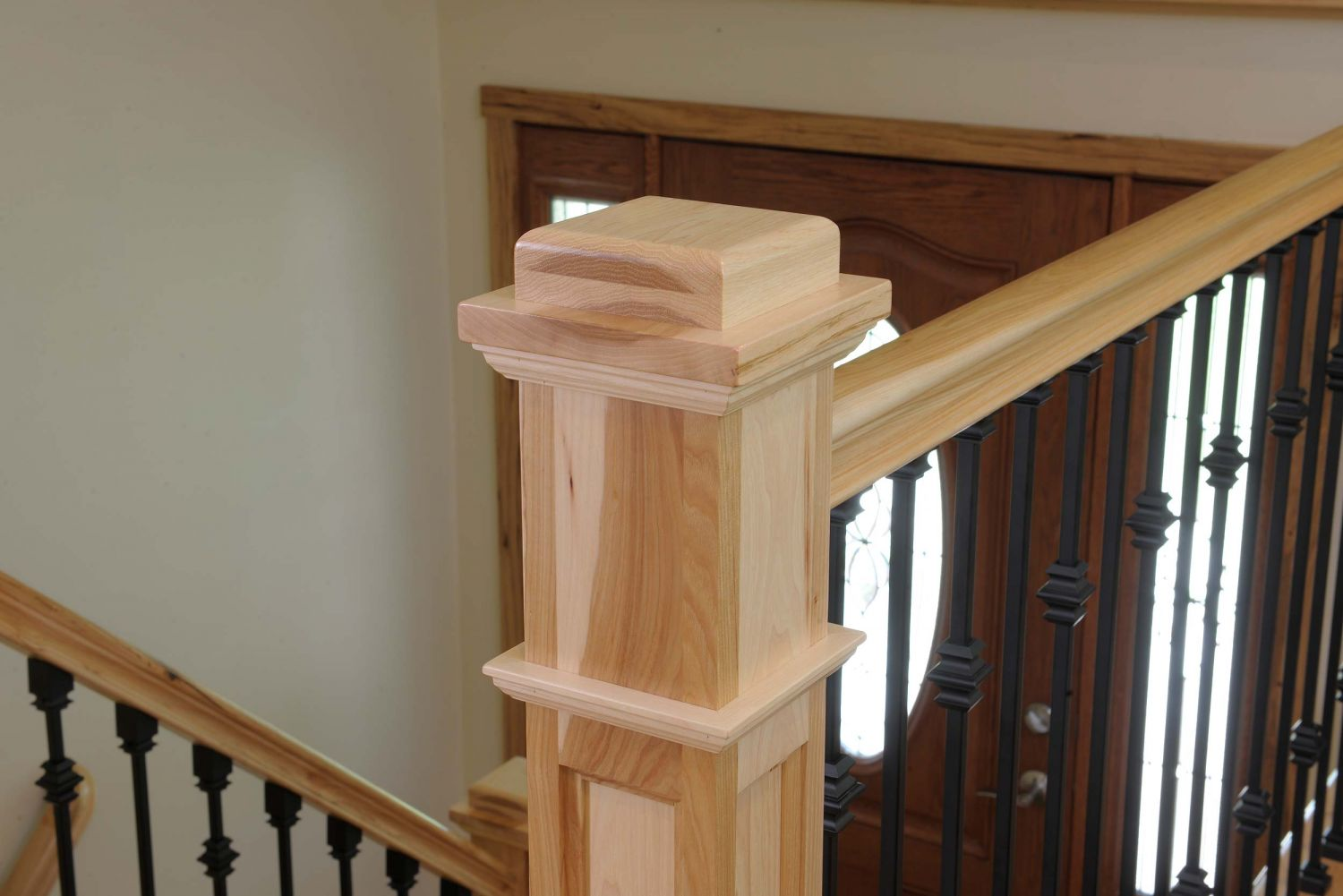 Custom Newel Post Custom Made And Stock Wood Iron Stair Products And Components By